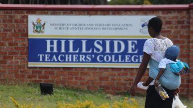 Photo of Hillside Teacher`s College students stage demo