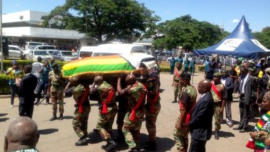 Photo of Prof Ndlovu`s body flown to Harare for burial