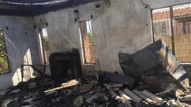 Photo of Lobengula home gutted by fire caused by candle