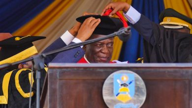 Photo of NUST conferres Mnangagwa with honorary degree