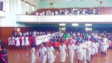 Photo of Mpilo nurses graduate under police guard