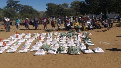 Photo of UK church donates foodstuffs to Umguza villagers