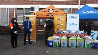 Photo of NetOne and TelOne donate PPE to Mpilo Hospital