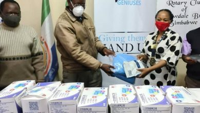 Photo of Rotary Club donates PPE to Mpilo Hospital