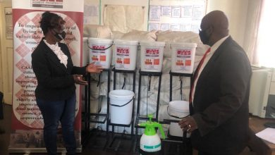 Photo of CAAP donates hand washing equipment to Nkayi schools