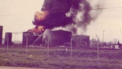 Photo of Roll call and the destruction of the Salisbury fuel tanks 1978