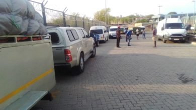 Photo of Omalayitsha stranded at Beitbridge border